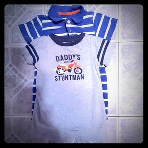 2 Baby boy size 24M rompers